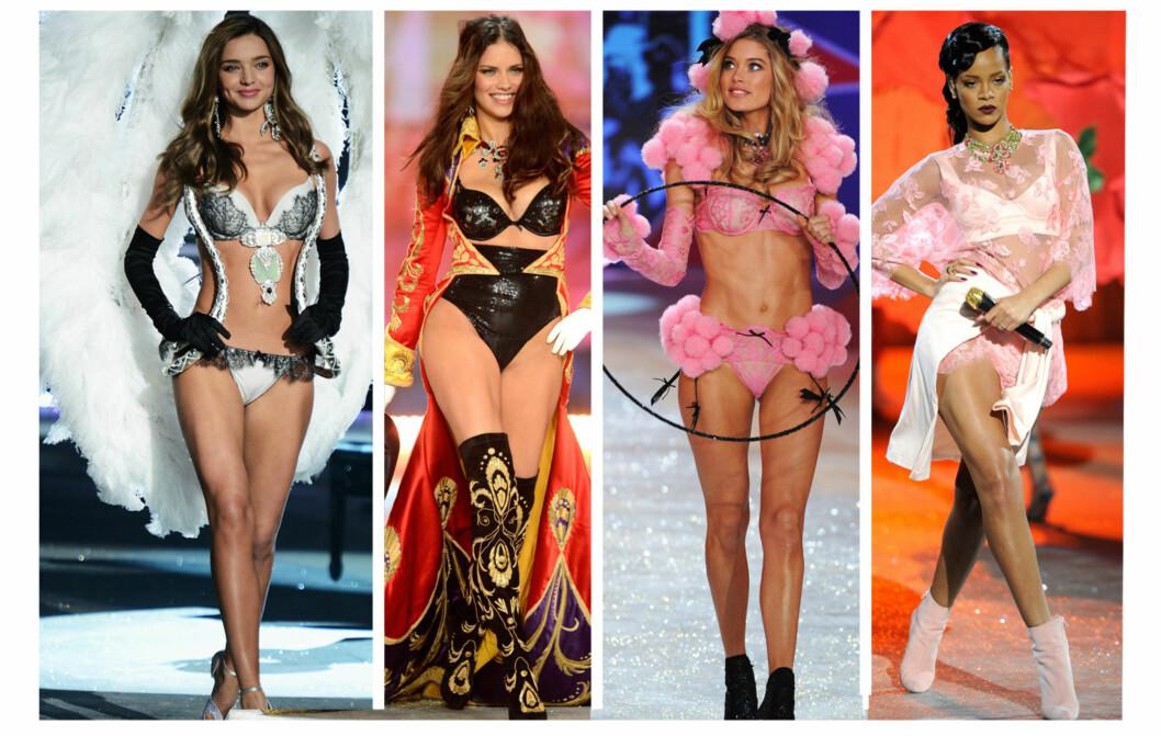 VERDENS MEST SEXY SHOW: Victoria's Secret-showet er kjent som verdens mest sexy undertøysshow, og trekker til seg verdens største supermodeller og artister.  Foto: All Over Press