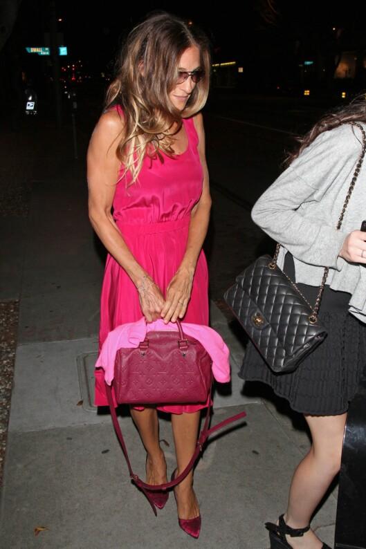ELSKER: Sarah Jessica Parker er blant stjernene som elsker Speedy-vesken og bruker den til alt - fra hverdags til fest.  Foto: All Over Press