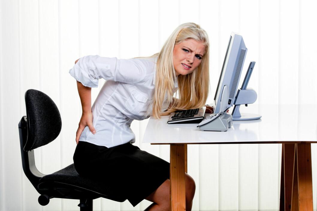 AU, AU, AU: Det er ikke nødvendigvis feil sittestilling eller overbelastning som gir ryggplager.  Foto: Erwin Wodicka