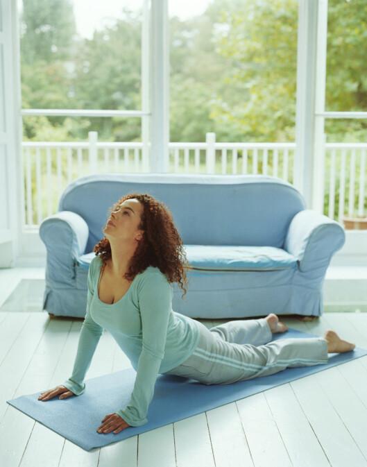 TØY OG STREKK: Å holde ryggsøylen og sener og muskler rundt bevegelige er forebyggende mot ryggsmerter. Foto: Getty Images