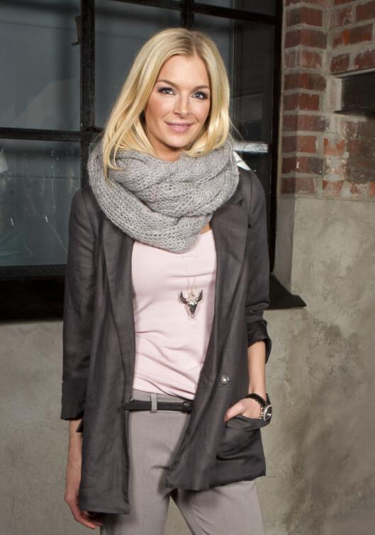 KATHRINE SØRLAND: Kathrine i en av sine mange, fine blazere. Foto: Andreas Fadum/All Over Press