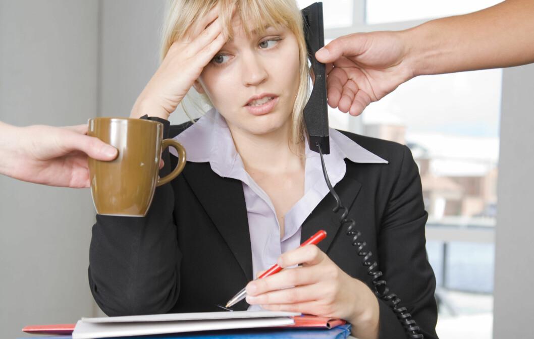 DÅRLIG NYTT FOR HELSA: Å ha liten kontroll over arbeidshverdagen er ikke bra. Det kan faktisk øke risikoen for hjerteinfarkt, viser ny forskning.  Foto: Colourbox