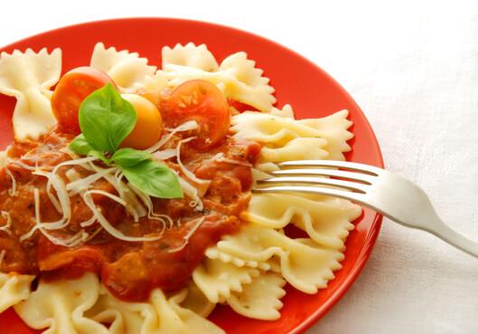 DROPP DETTE: De få karbohydratene du spiser bør være grovkarbo, så pasta bør for det meste unngås.. Foto: Thinkstock