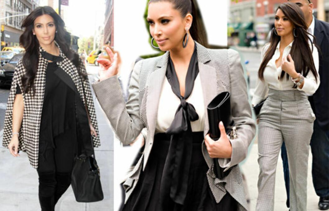 SELGER BRUKTE KLÆR: Realitystjerne Kim Kardashian selger nå flere av sine brukte klær på handelsnettstedet eBay.com.  Foto: All Over Press