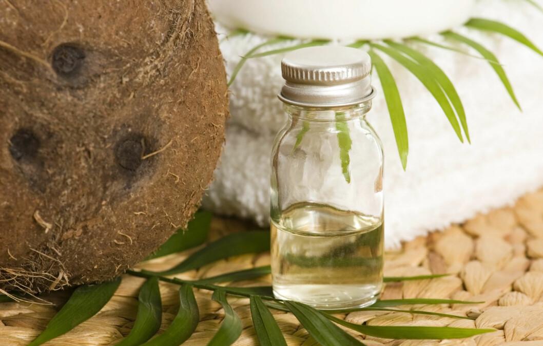 BRUK MER KOKOSOLJE: En ny studie viser at ingredienser i oljen kan forebygge tannråte, og kan bli aktuelt som et tilskudd i ulike tann-produkter.  Foto: Thinkstock.com