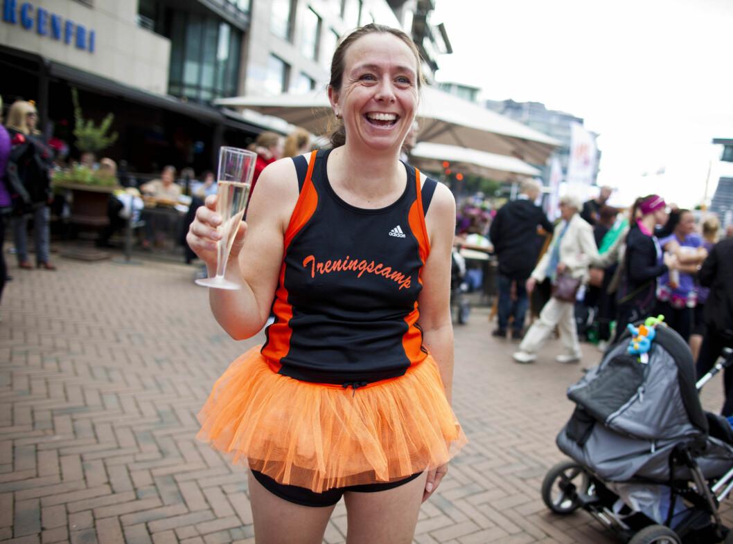 <strong>OSLO 20120915:</strong>  KK-mila på Aker Brygge.  Knallfine damer i sprek form fylte hele Aker Brygge under lørdagens KK-mila.  FOTO: SARA JOHANNESSEN / KK Foto: KK