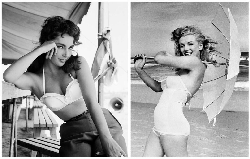 ELLEVILLE DIETTER: Liz Taylor og Marilyn Monroe fulgte noen spesielle dietter. Liz spiste nesten bare mettet fett, mens Marilyn spiste rå egg til frokost.  Foto: All Over Press