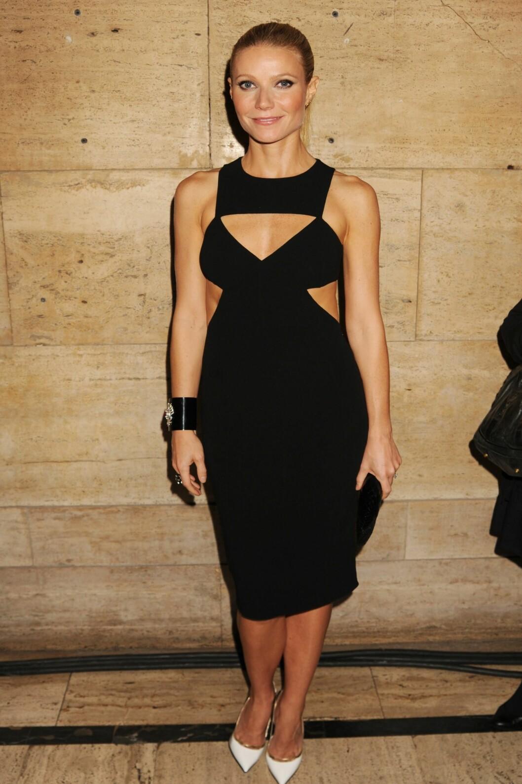 Nylig ble Gwyneth avbildet i en fantastisk Michael Kors-kjole, som fremhever hennes spenstige figur. Foto: All Over Press