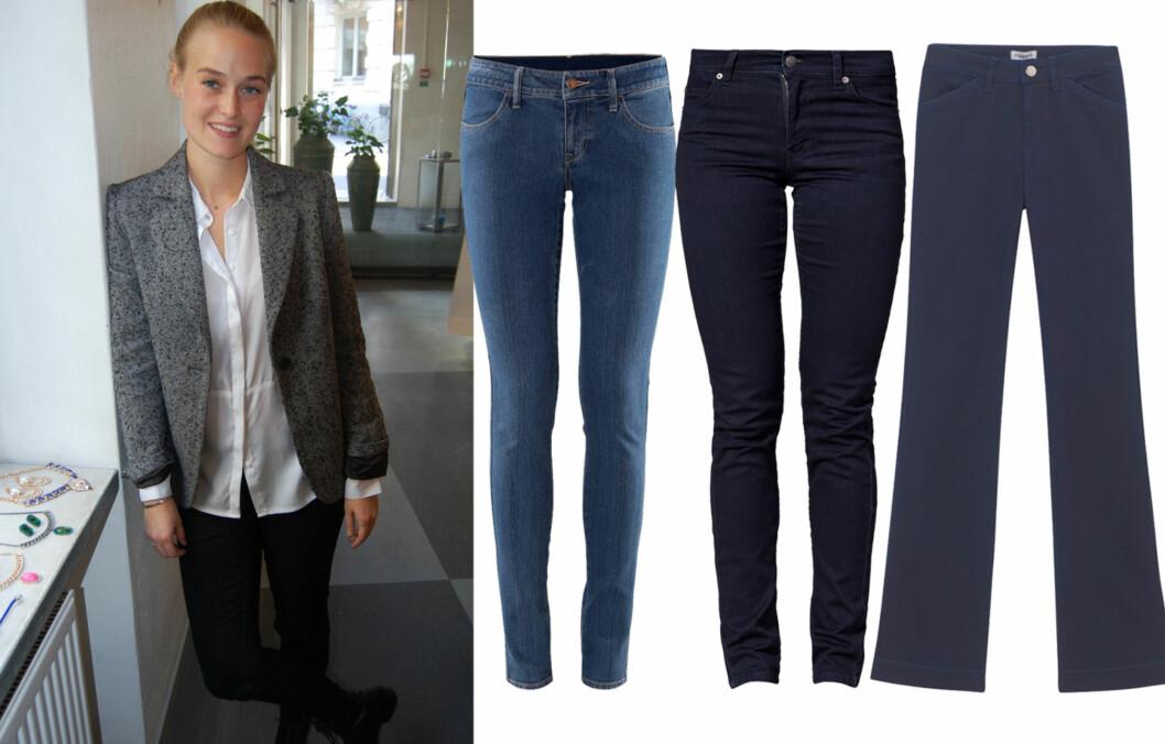 JEANS PÅ NETT: Designeren bak merket Issue 1.3 gir deg tipsene du trenger når du skal handle jeans på nettet. Kjøpsinfo og flere jeans finner du i bildekarusellen lenger ned i saken. Foto: Stine Therese Strand og produsentene