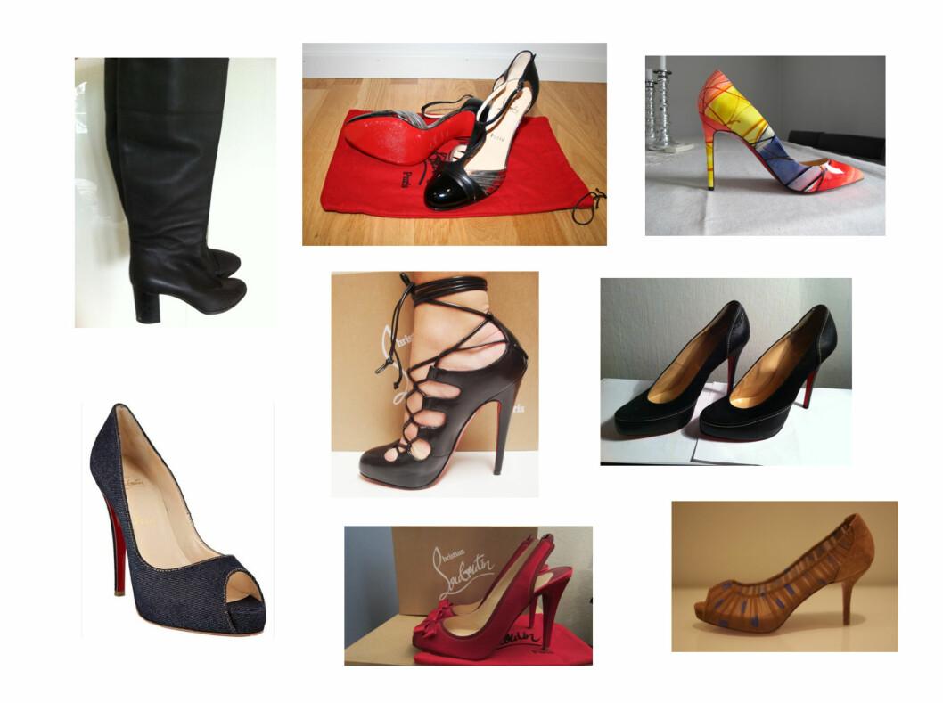 FRA BLOPPIS.NO: Her er et utvalg av skoene du kan finne på Bloppis.no akkurat nå. Foto: Private