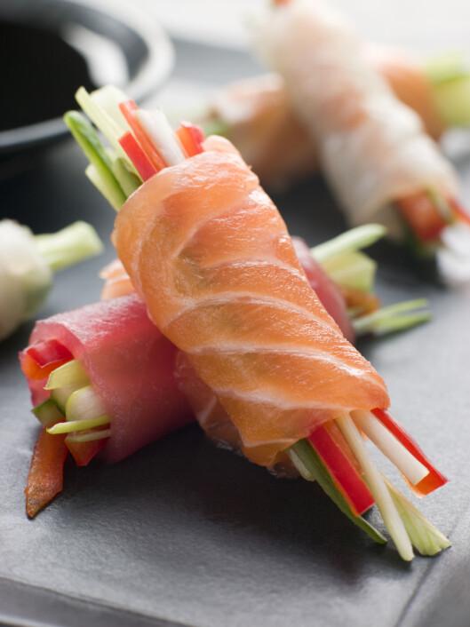 NAM: Sashimi er selvagt raw food! Foto: Colourbox