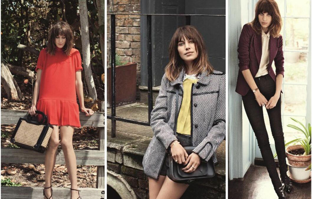 JANE BIRKIN-KOPI: Alexa Chung ligner på Jane Birkin i høstkampanjen til Vero Moda. Foto: All Over Press