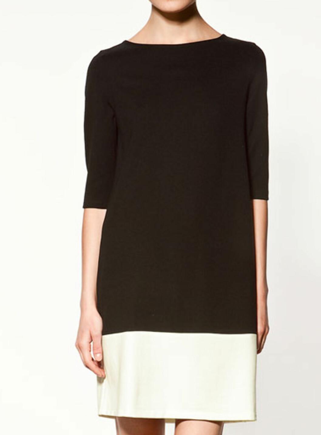 Enkel kjole med halvlang erm (kr.399/Zara). Foto: Produsenten