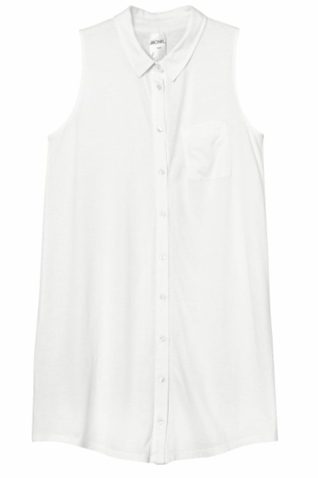 Lang skjorte uten ermer (kr.250/Monki). Foto: Produsenten