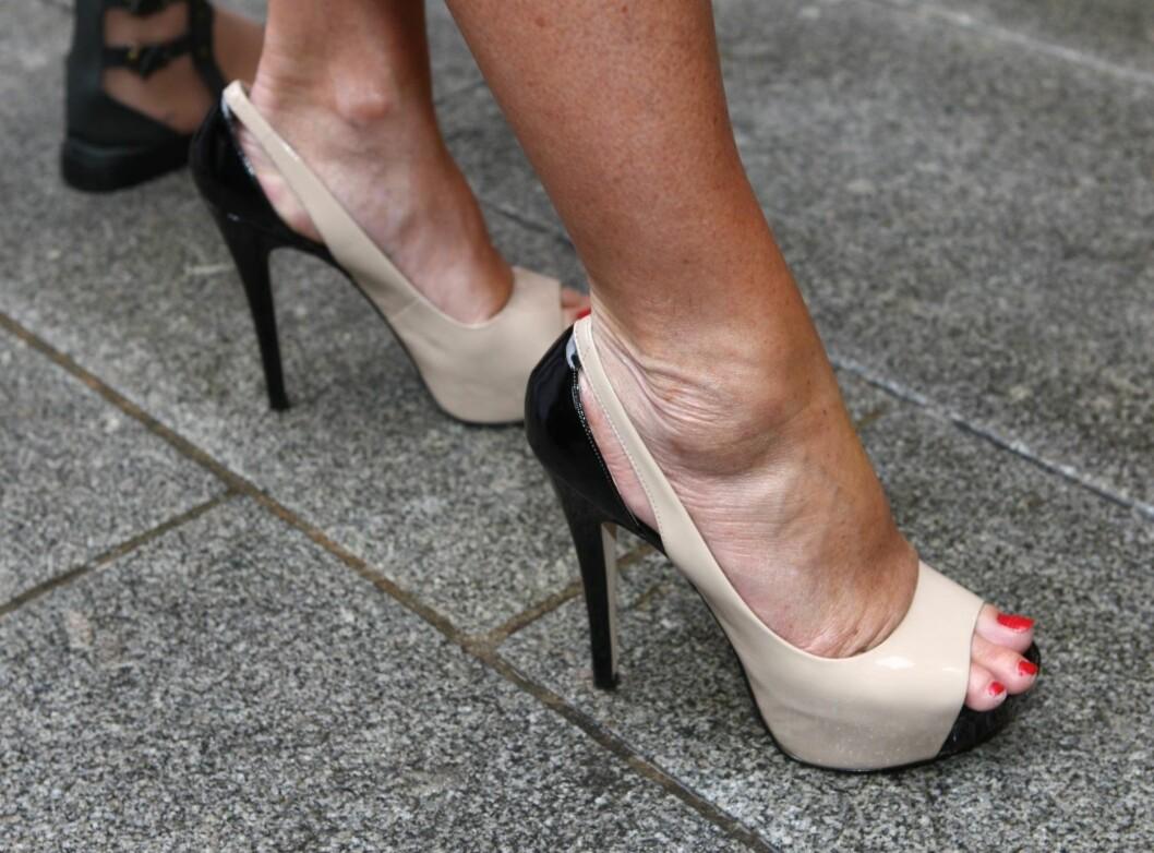 BYGGER OPP BEDRE STØTTE: Treningen de høye hælene gir deg gjør at du får bedre støtte når du blir eldre. Foto: Per Ervland
