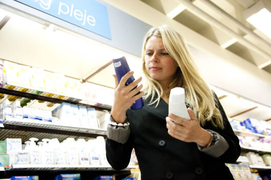 DEN LILLE SKRIFTEN: Sjekk innholdsfortegnelsen neste gang du kjøper skjønnhetsprodukter. Foto: All Over Press