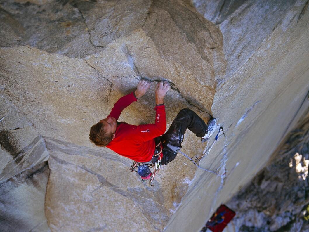 Leo Houlding har drevet med klatring siden han var ti år gammel.  Foto: Berghaus