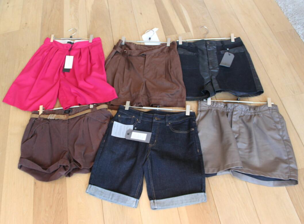 Shortsen kan like godt brukes om vinteren. Her er noen av høstens modeller hos Vero Moda. Foto: Tone Ra Pedersen