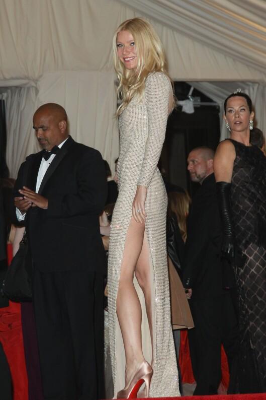 GWYNETH: Har fått svært flotte og tonede bein etter at hun begynte å trene med Tracy Anderson.  Foto: All Over Press
