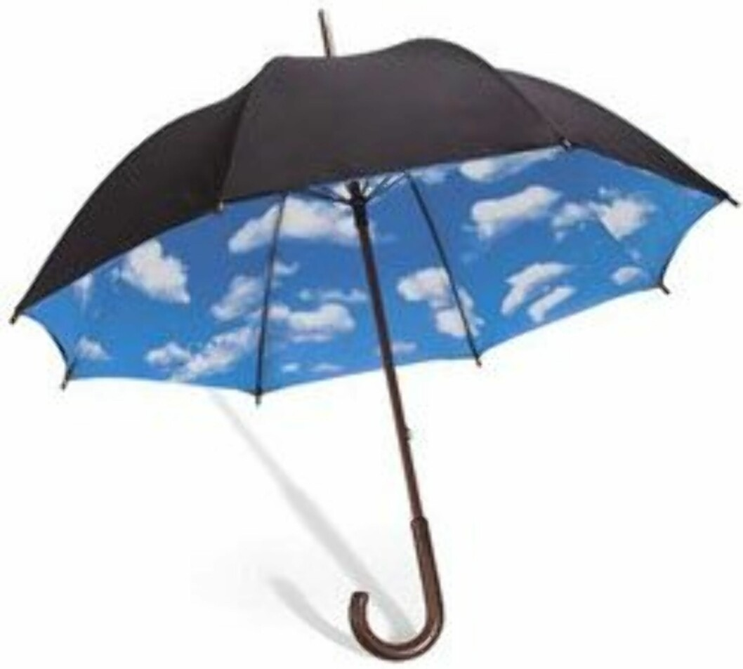 Under denne paraplyen er himmelen alltid blå (ca kr.290/Amazon.com). Foto: Produsenten