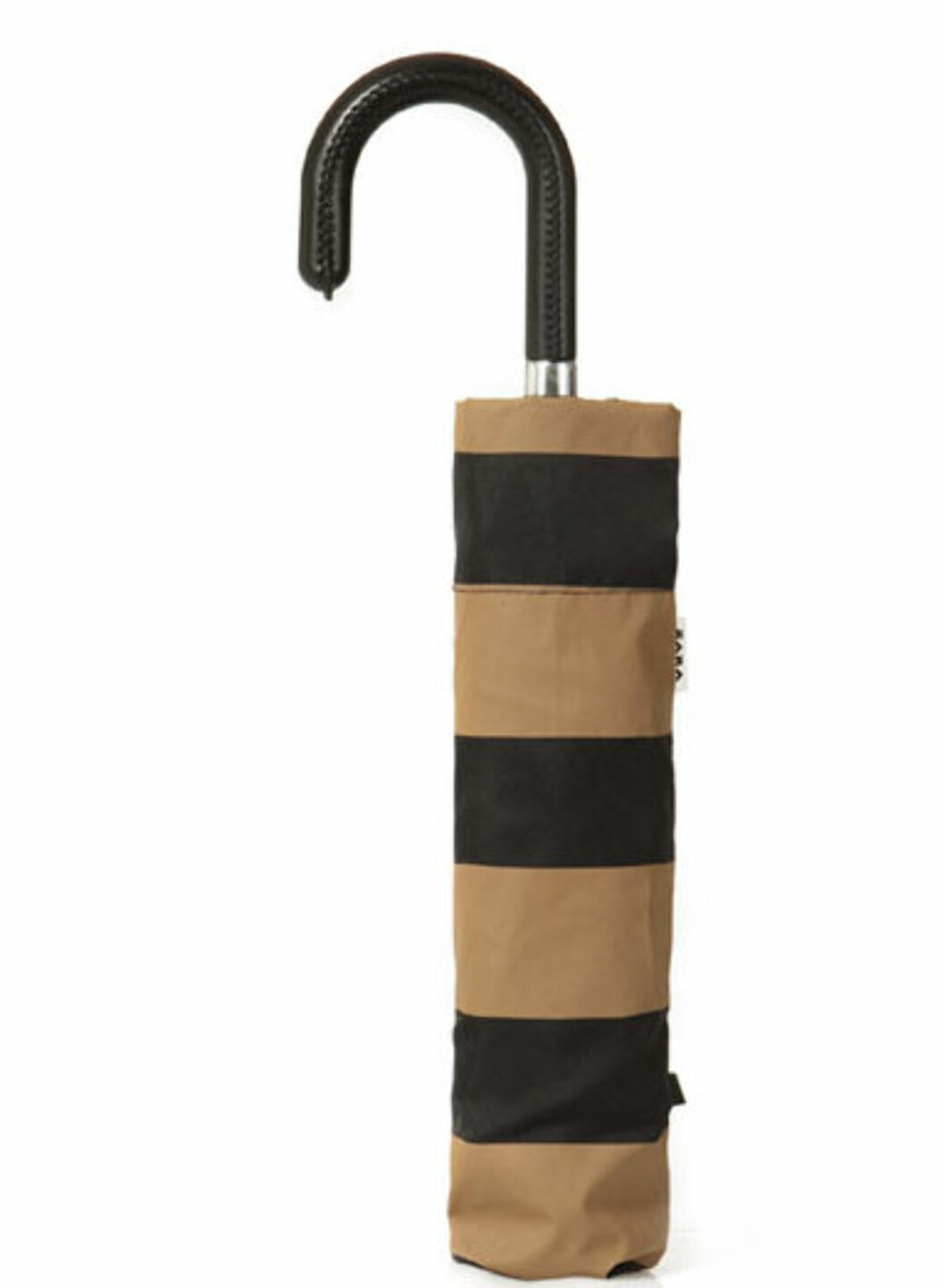 Stripet paraply i veskeformat fra Zara (kr.120/zara.no). Foto: Produsenten