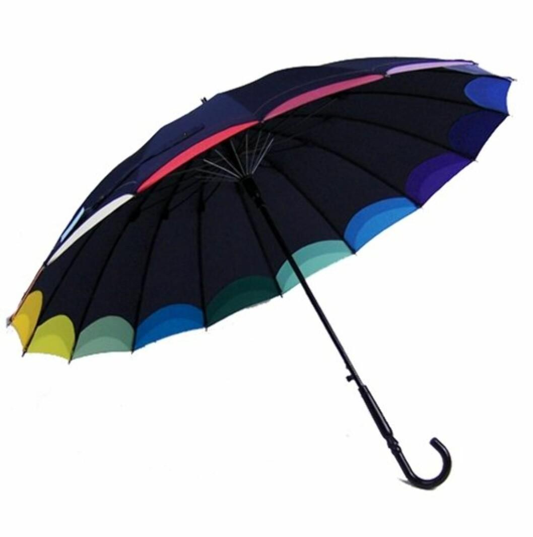 Fargerik modell (ca kr.359/Umbrellas.net). Foto: Produsenten