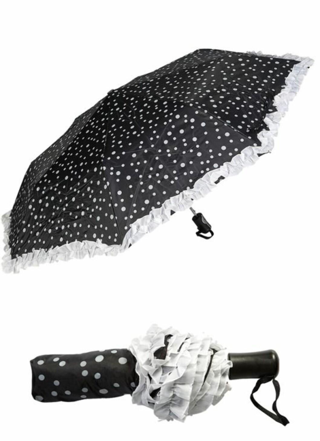 Snuppete paraply fra Spar Kjøp (kr.39,50/sparkjop.no). Foto: Produsenten