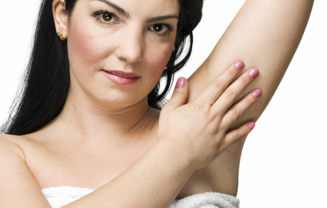 IKKE HELT FORNØYD? Syns du at armhuler er lite sexy? En ny deodorant skal hjelpe dem med armhulekomplekser. Foto: Thinkstock