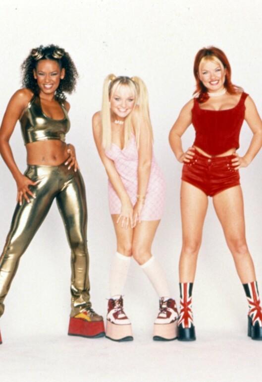 KRYDDERSÅLE: Spice Girls gjorde den tjukke, tjukke platåsålen til en hit på slutten av 90-tallet. Foto: All Over Press
