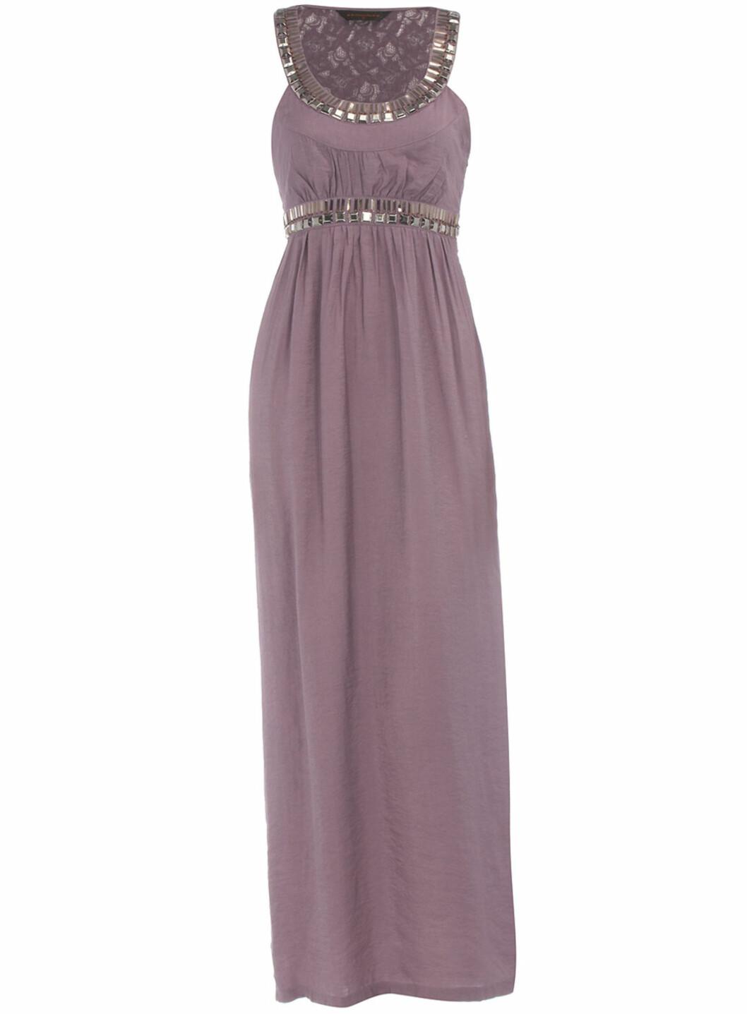 Fotsid lilla kjole (ca kr.200/DorothyPerkins.com). Nå på salg, i størrelse 12 og 14.  Foto: Produsenten