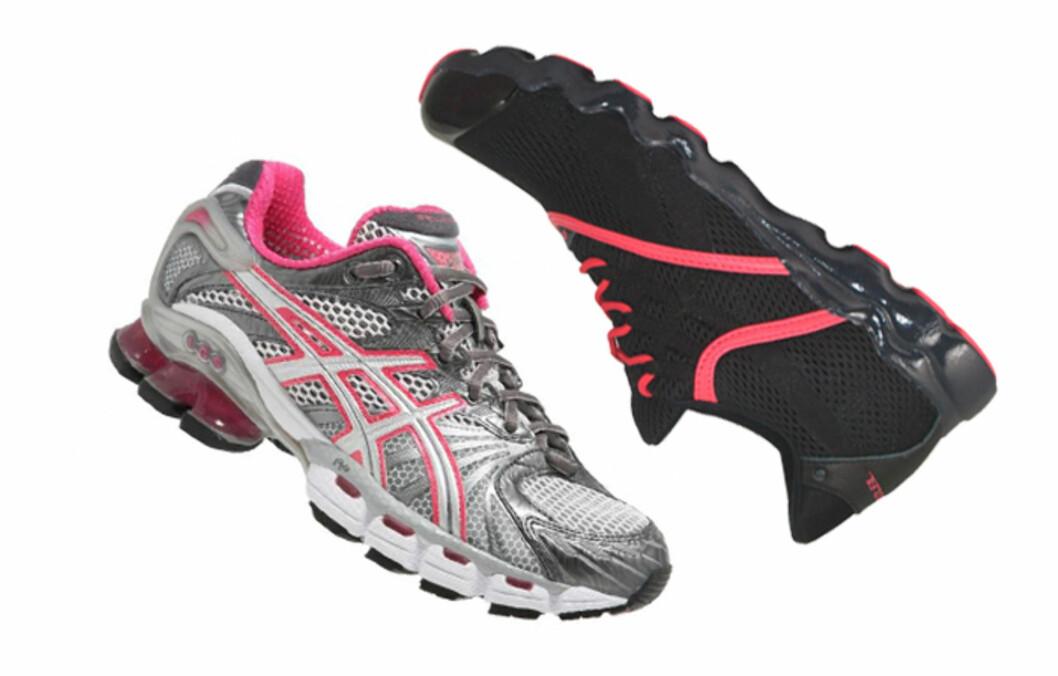 TO PAR: Har du flere par treningssko kan du slippe både stinkende og vonde bein - i tillegg varer skoen lenger. Foto: Produsentene
