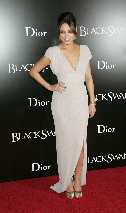 SØT OG SEXY: Skuespiller Mila Kunis mestrer å være både søt og sexy når hun skal på fest. Foto: All Over Press