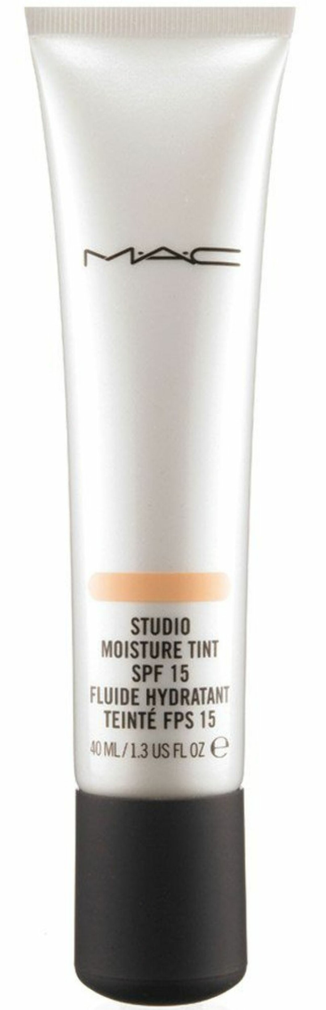 MAC Studio Moisture Tint er en lett og fuktgivende farget dagkrem som jevner ut huden og gir en flott glød. Beskytter med SPF 15, kr  215. Foto: Produsenten
