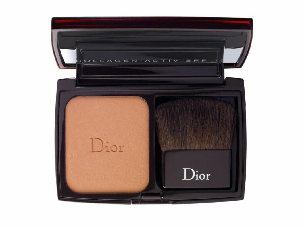 Dior Collagen-Active, et solpudder som hevder å ha anti-aldrings-egenskaper og kombinere makeup, kr 435. Foto: Produsenten