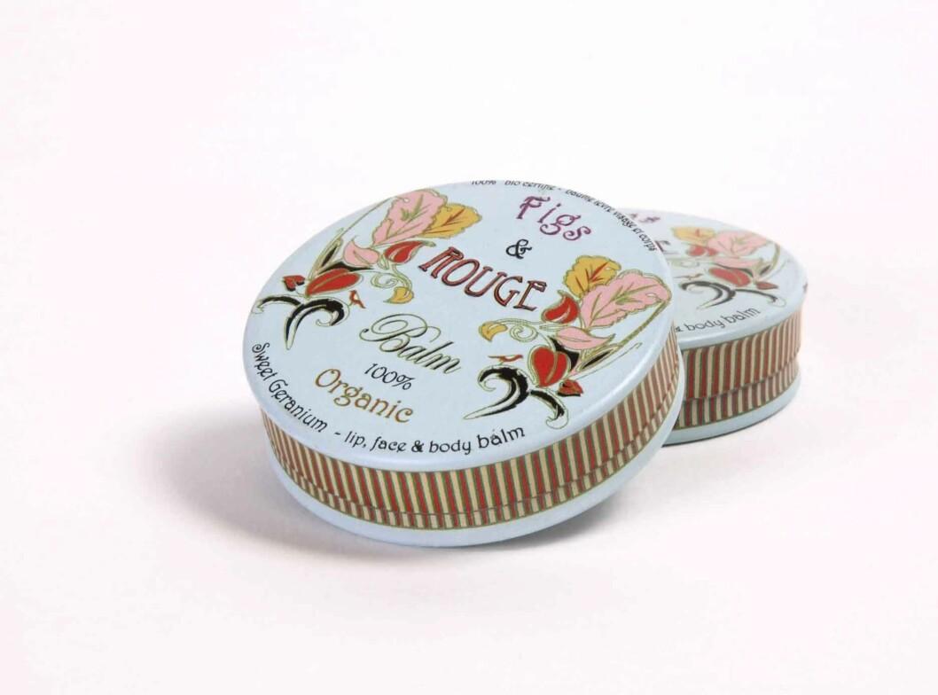 Figs & Rouge Lip Balm er en økologisk lip balm som lindrer tørre, såre og sprukne lepper. Finnes i tre typer, kr 59.  Foto: Produsenten