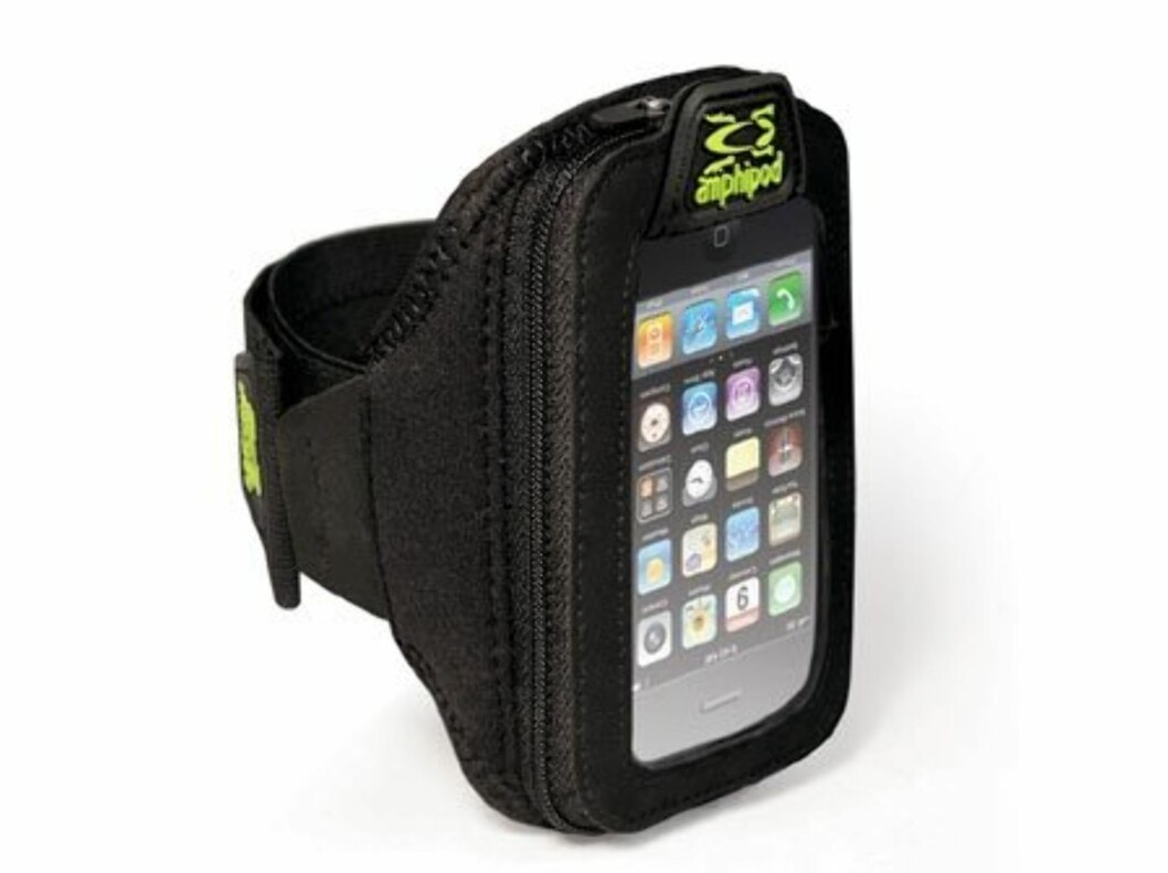 Snertet armbånd med oppbevaringsplass for iPhone eller iPad. Fås kjøpt på amphipod.com Foto: amphipod.com