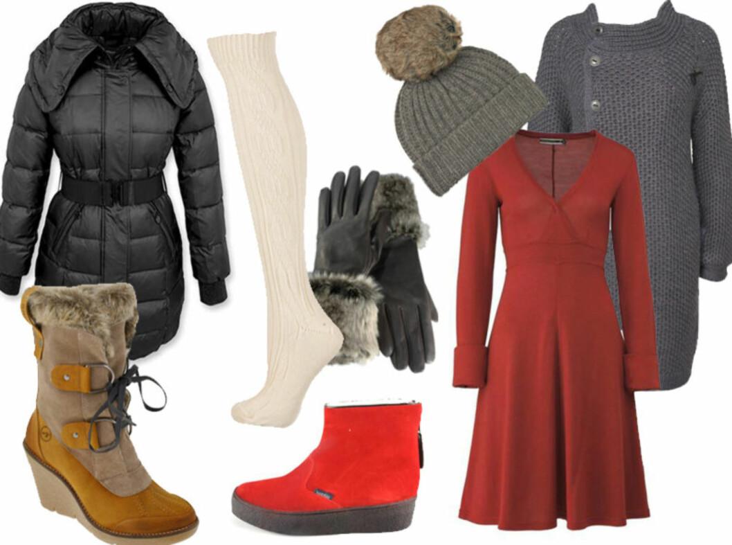 IKKE FRYS: Velg behagelige plagg som holder deg varm i vinterkulda. For info om priser og forhandlere, se bildeserien under  Foto: Produsentene/Forhandlerne