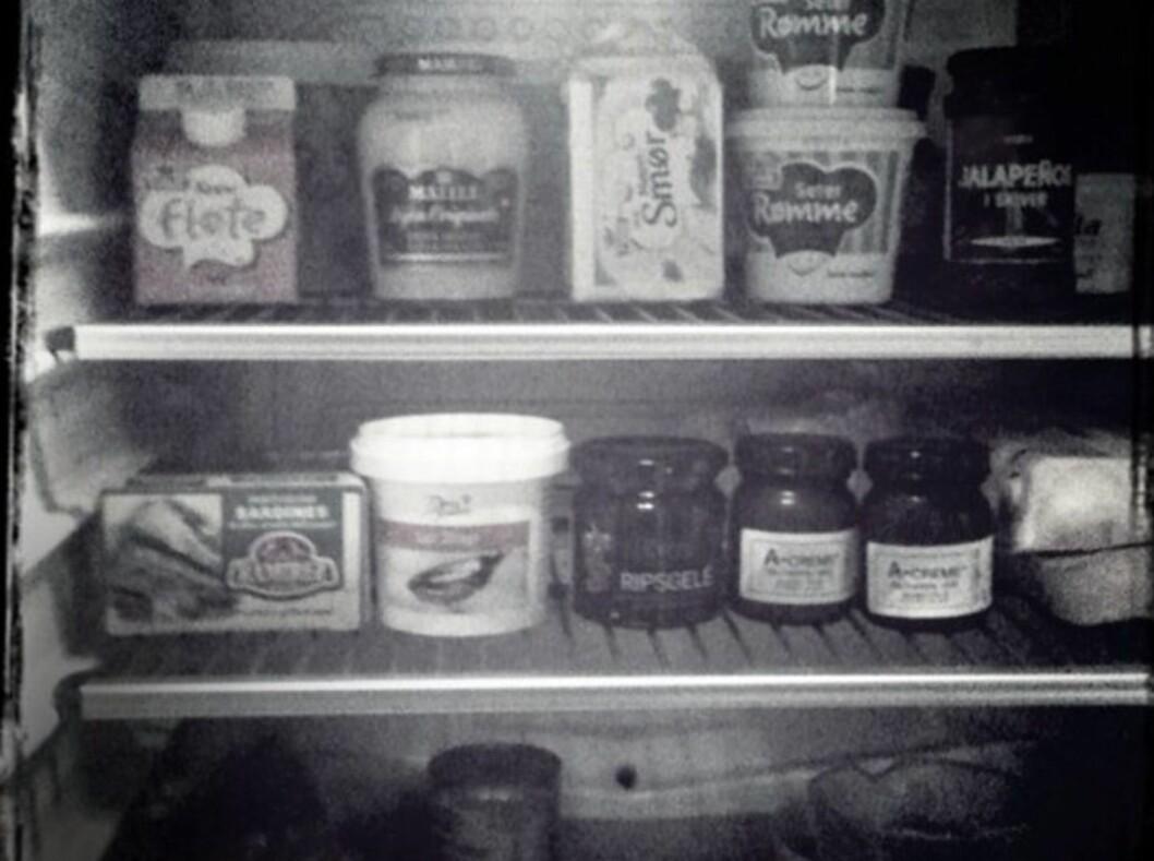 TRYGGHETEN LIGGER I DETALJENE: Kjøleskapet skal holde rundt 4 grader. Den lave temperaturen sørger for at bakteriene ikke formerer seg. Er du i tvil om hvilken temperatur kjøleskapet holder, legger du inn et termometer en stund og sjekker. Foto: Linda Aslaksen