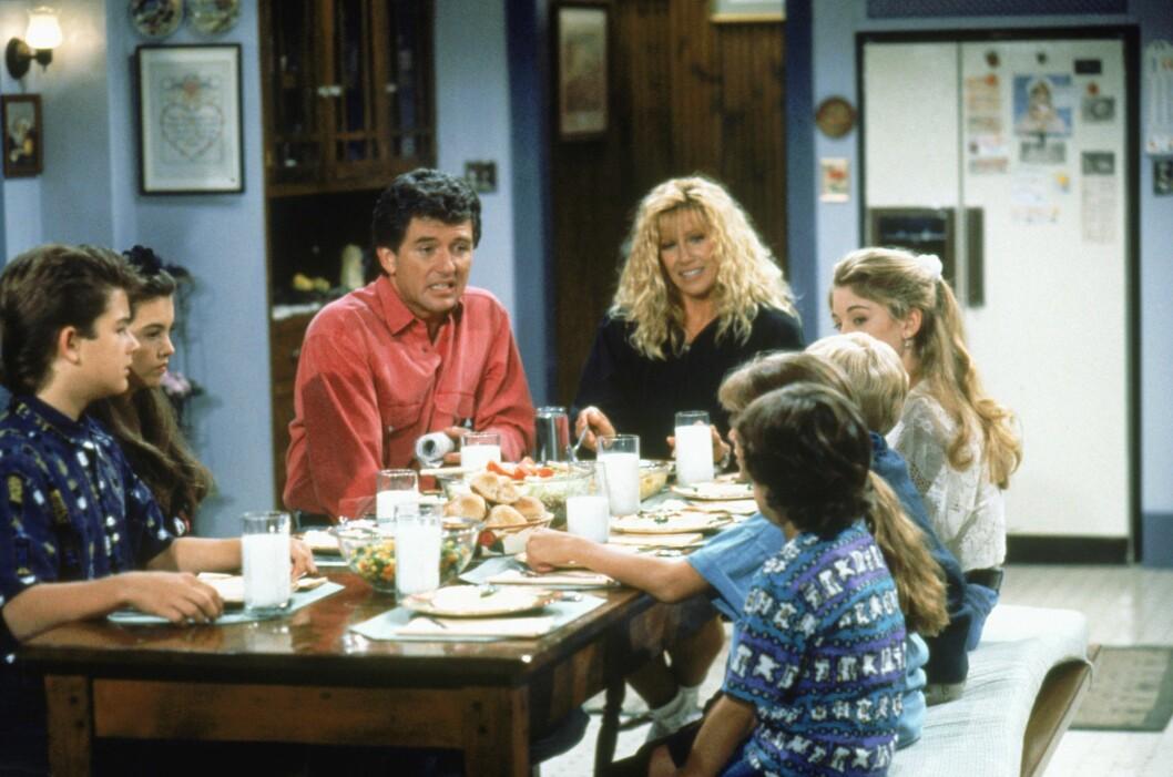 <strong>GO&#039; STEMNING:</strong> Samtalene rundt middagsbordet var både morsomme og alvorlige hos familien Foster/Lambert.  Foto: TV 2
