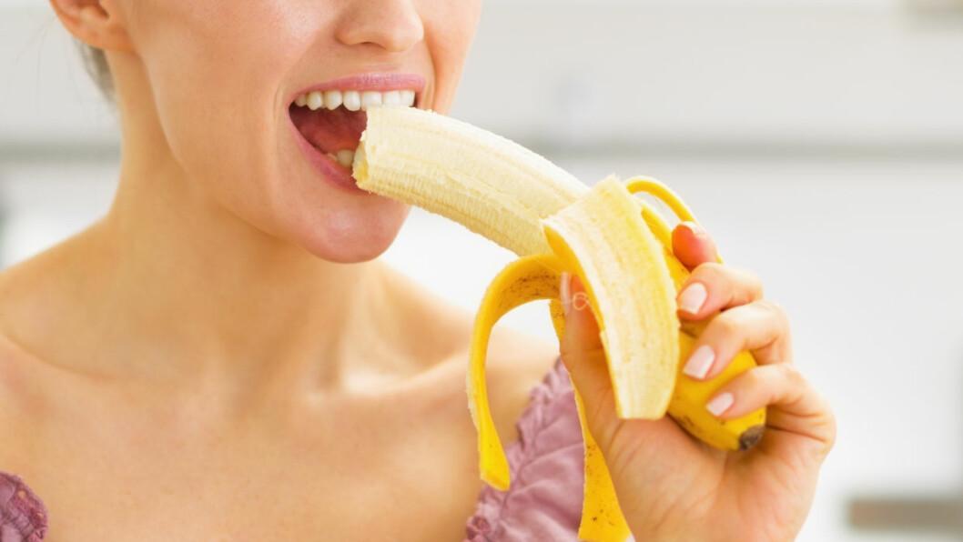 <strong>SUNT MED BANAN:</strong> Slapp helt av, bananen har mange gode egenskaper og er slett ikke noe du trenger å unngå. Foto: Shutterstock / Alliance