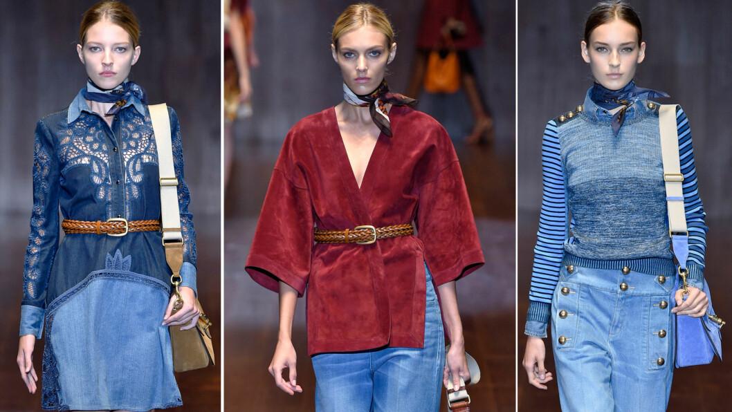 ALT SOM SKAL TIL FOR Å OPPGRADERE STILEN: La deg inspirere av Guccis silkeskjerf, og knyt deg ny på 1-2-3. Foto: All Over Press