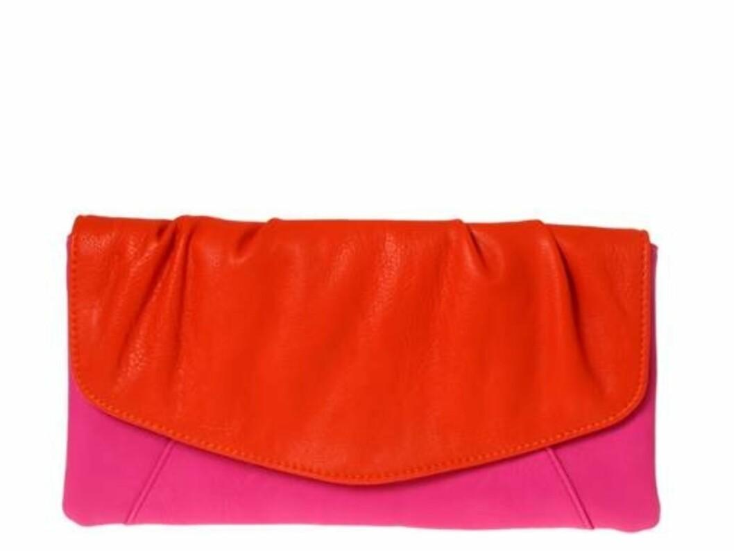 Rød og rosa clutch fra Don Donna (kr.249/Morris). Foto: Produsenten