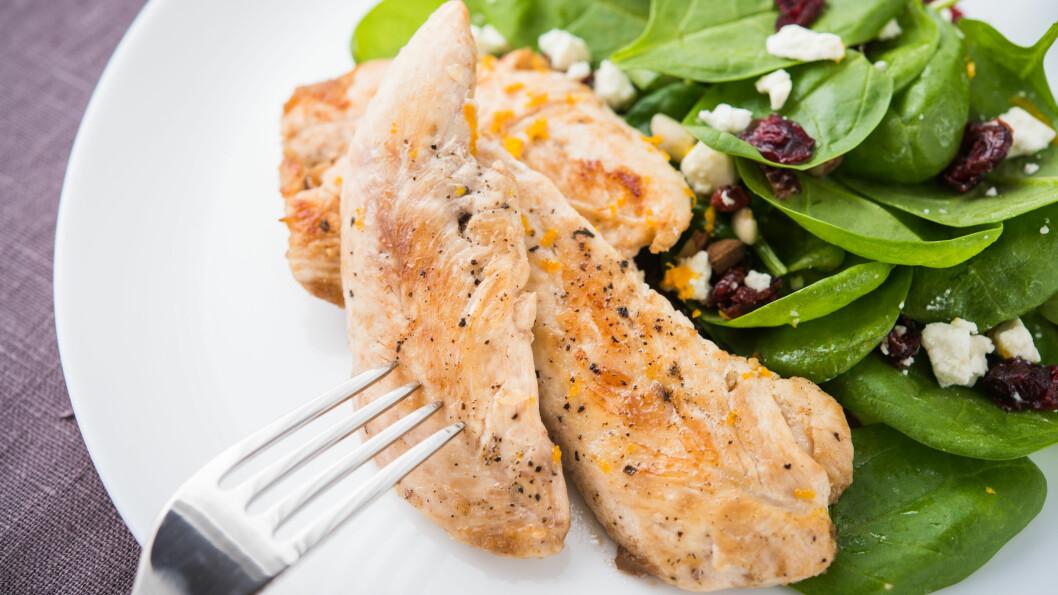KALKUN: Er du lei av den gode gamle kyllingmiddagen? Hva med å bytte ut kyllingen med kalkun. Det er like sunt og magert, og smaker supergodt!  Foto: Shutterstock / Elenadesign