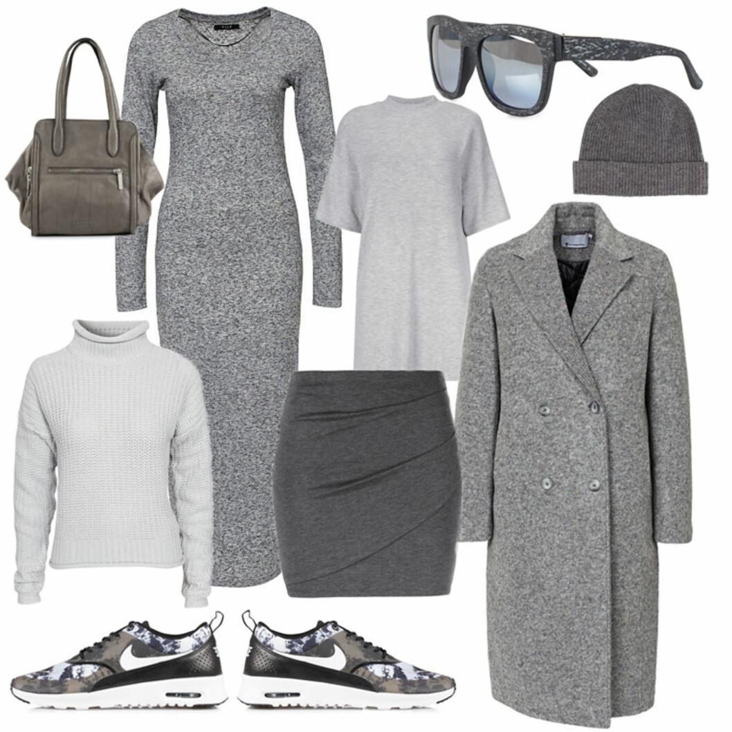 DAG: Velg en strikket genser over et skjørt, eller velg den lange kjolen med de freshe joggeskoene. Foto: Produsentene, Nelly.com