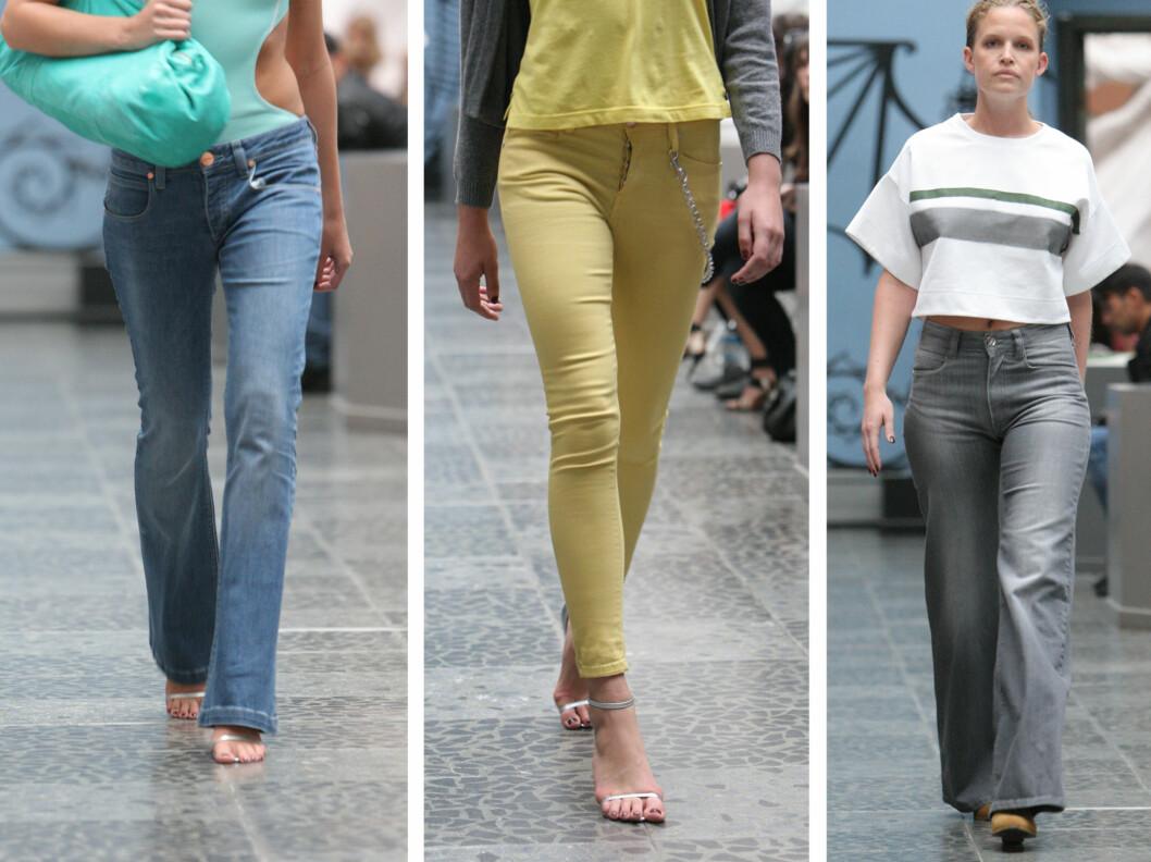 NYTT PÅ JEANSFRONTE: Neste år vil vi, ifølge Mardou & Dean, se mye sleng og solblekede elementer på jeansene.  Foto: Per Ervland