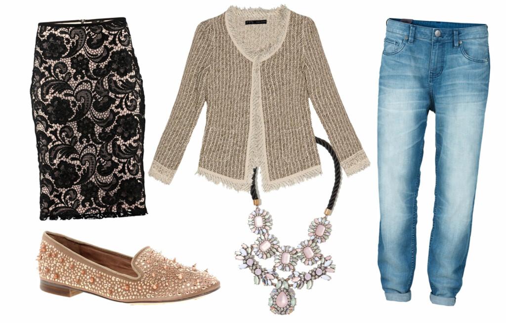 5029b0b7 DE 5 PLAGGENE: Blondeskjørtet, bouclé-jakken, boyfriend-jeansen, loafersene  og