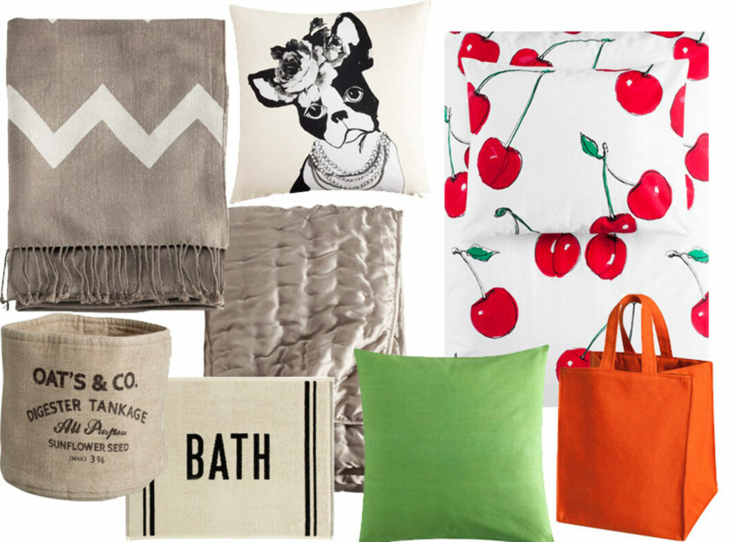 MER SVENSK INTERIØR: H&M Home fokuserer på sengetøy, puter, tepper og noe kjøkkentekstiler. Se hele kolleksjonen under. Foto: H&M