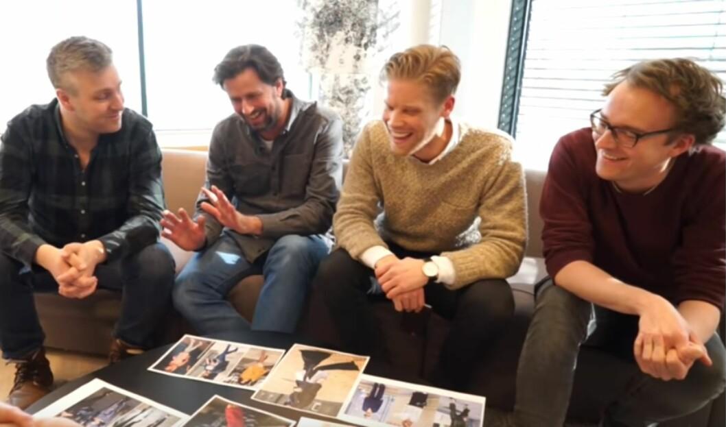 MENN OM: I del fire av «Hva gutta synes om»-panelet har vi snakket med Amund, Even, Steinar og Ole Petter om motetrender. Hva er yey og hva er ney? Se svaret i videoen øverst i saken! Foto: Per Ervland (VIDEO)