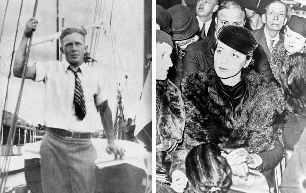 BLE MISTENKT: Til å begynne med antok politiet at kjæresteparet Betty Gow og nordmannen Henry Johnson måtte ha samarbeidet om kidnappingen, ettersom ingen andre uteforstående enn frøken Gow - babyens barnepike - visste at Lindbergh-familien befant seg på Hopewell den kvelden. Foto: NTB Scanpix