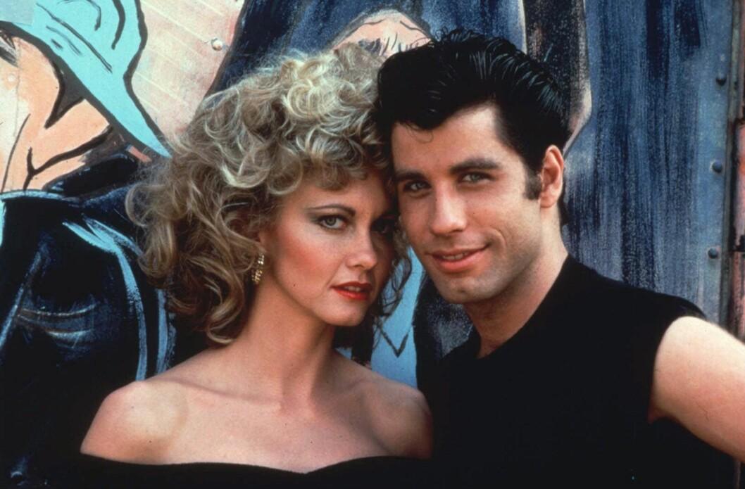 GREASE: Olivia Newton-John slo for alvor igjennom da hun fikk rollen som Sandy i filmen «Grease» i 1978. Hun spilte mot den amerikanske skuespilleren John Travolta. Foto: NTB Scanpix
